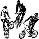 Set BMX rowerzyści Obraz Royalty Free