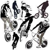 Set BMX rowerzyści Fotografia Royalty Free