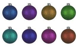 Set boże narodzenie piłek kule ziemskie Obraz Stock