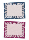 Set Bożenarodzeniowe błękitne i śliwka karty Fotografia Royalty Free