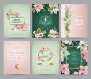 Set Bożenarodzeniowe broszurki i karty ilustracja wektor