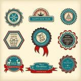 Set Bożenarodzeniowe etykietki Obraz Stock