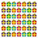 Set Bożenarodzeniowi ikona prezenty w uproszczonym stylu Zdjęcie Stock