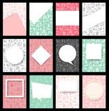 Set Bożenarodzeniowy broszurki tło w a4 rozmiarze Obraz Stock