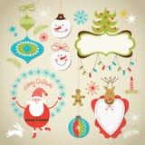 Set Bożych Narodzeń i Nowego Roku elementy royalty ilustracja