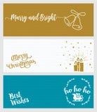 Set bożych narodzeń i nowego roku ogólnospołeczni medialni sztandary Obraz Royalty Free