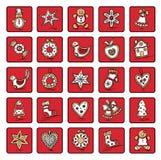 Set Bożenarodzeniowe ikony Zdjęcie Stock