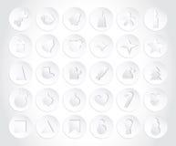 Set Bożenarodzeniowe ikony w papieru stylu Mieszkanie styl Zdjęcia Stock