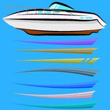 Set of Boat Graphics Stock Photos
