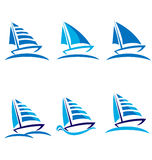 Set of boats stock illustration