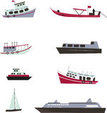 Set of boats Stock Photography