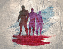 The set of 3 Body building silhouette Stock Image