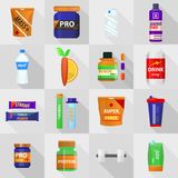 Set of bodybuilding sport food. Royalty Free Stock Image