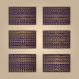 Set of  boho ethnic banners. Tribal business background. India ornament. Stylish template. African background. Aztec cover. Stock Image
