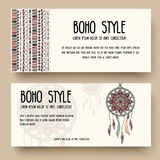 Set of boho ornament illustration style concept. Art traditional, poster, book, layout abstract, ottoman motifs, element. Vector decorative ethnic greeting Stock Photos