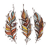Set of Boho Style hand drawn elements. vector illustration. Tribal hippie element Stock Photos