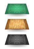 Set boisko do koszykówki w różnych colours royalty ilustracja