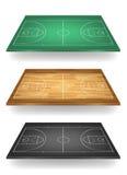 Set boisko do koszykówki w różnych colours Zdjęcia Royalty Free