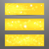 Set of bokeh background. Vector EPS 10. Stock Image