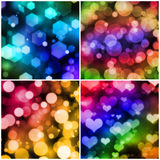 Set of bokeh backgrounds Royalty Free Stock Photo