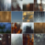 Set of bokeh nature blurred backgrounds Stock Images
