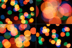 Set of bokeh sparkles. Stock Photo
