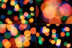 Set of bokeh sparkles. Set of colorful bokeh rounds Stock Photo