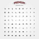 Set of bold icons Royalty Free Stock Photography