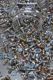 Set of bolts screws and nuts Royalty Free Stock Photography