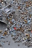 Set of bolts screws and nuts Royalty Free Stock Photo