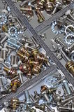 Set of bolts, screws and nuts Stock Photo