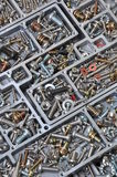 Set of bolts, screws and nuts Stock Photos