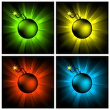 Set of bombs Royalty Free Stock Photography