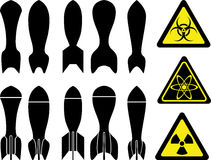 Set of bombs Royalty Free Stock Image