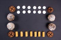 Set Bonbons Stockfotografie