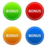 Set of bonus labels. Vector illustration Royalty Free Stock Photography