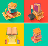 Set of book in flat design Stock Image