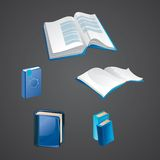 Set of book icons. Vector illustration Royalty Free Stock Photo