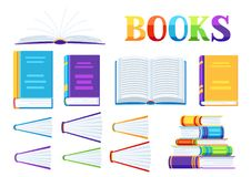 Set of book icons. vector illustration