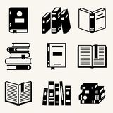 Set of book icons in flat design style royalty free illustration
