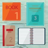 Set of book icons in flat design style Royalty Free Stock Photo