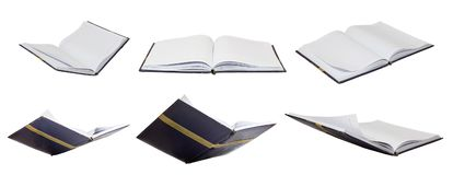 Set of book opening isolated education creative concept royalty free stock photos