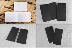 Set of booklets and flyers stock images