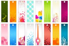 Set of Bookmark Royalty Free Stock Photography