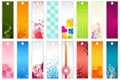 Set of Bookmark. Illustration of set of colorful floral bookmark vector illustration