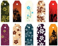 Set of bookmarks. Set of ten different vector floral  bookmarks Stock Photos
