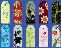 Set of bookmarks. Set of ten different vector floral  bookmarks Royalty Free Stock Images