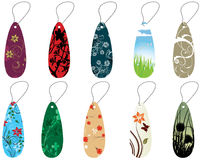 Set of bookmarks. Set of different floral bookmarks for design use Stock Photos