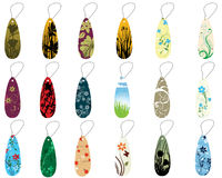 Set of bookmarks. Set of different floral bookmarks for design use Royalty Free Stock Image