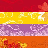 Set of bookmarks on an autumn subject. With elements of curls and leaves Royalty Free Stock Images